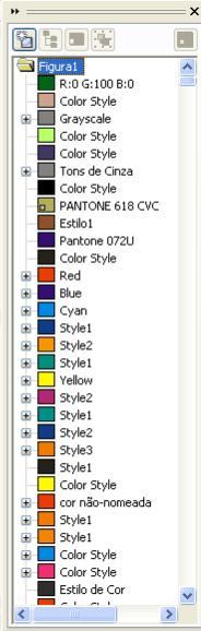 estilos de cores do Corel Draw 'poluído'