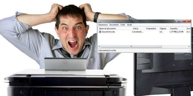 Cancelando documentos da fila de impressão do Windows