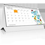 calendario de mesa wire-o 10x20cm 6 laminas